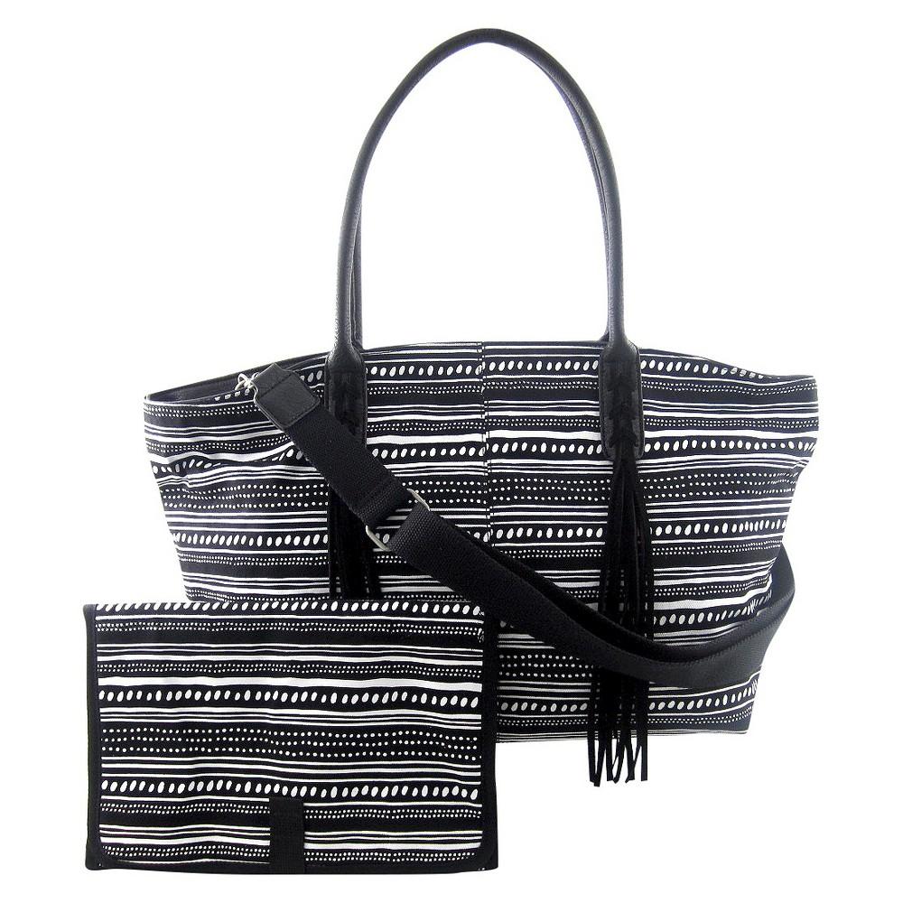 Image of DV Tote Diaper Bag - Black