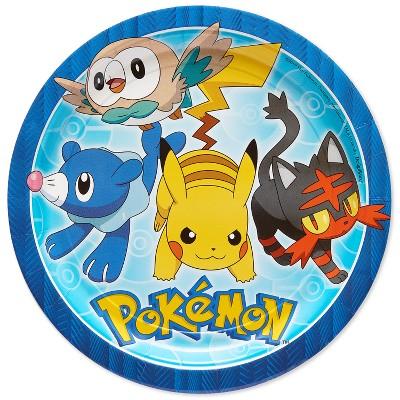 "Pokemon 9"" Paper Plates - 8ct"