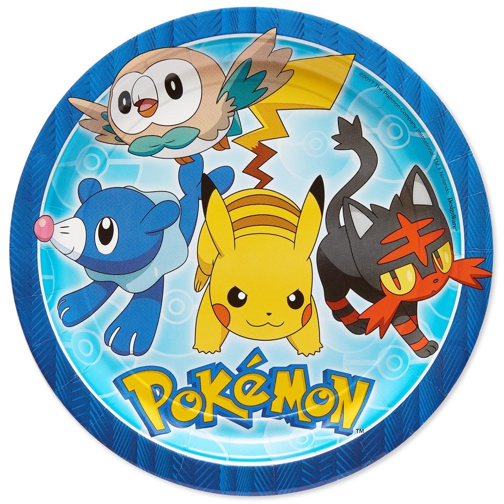 "Image of ""Pokemon 9"""" Paper Plates - 8ct"""