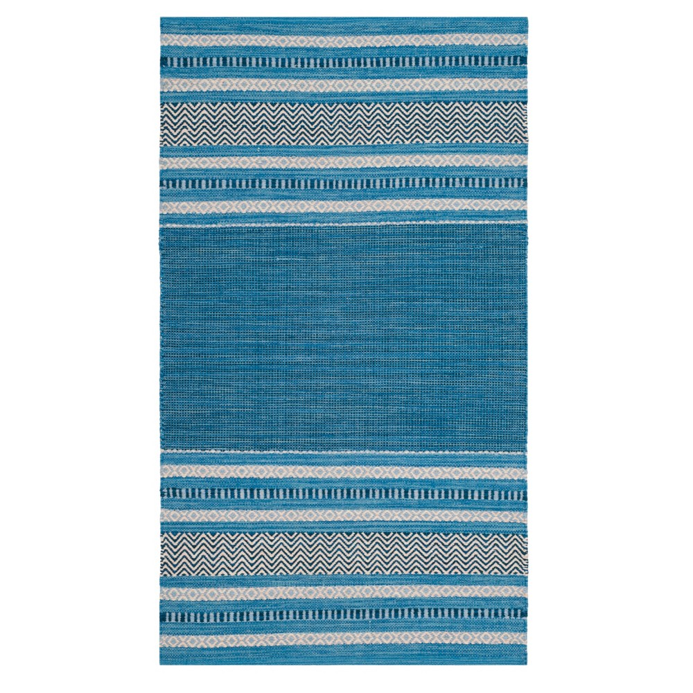 Blue/Gray Stripe Woven Accent Rug 3'X5' - Safavieh, Bluengray