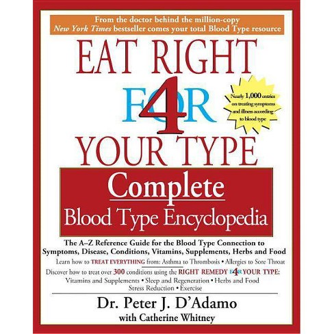 Eat Right 4 Your Type Complete Blood Type Encyclopedia - by  Peter J D'Adamo & Catherine Whitney - image 1 of 1