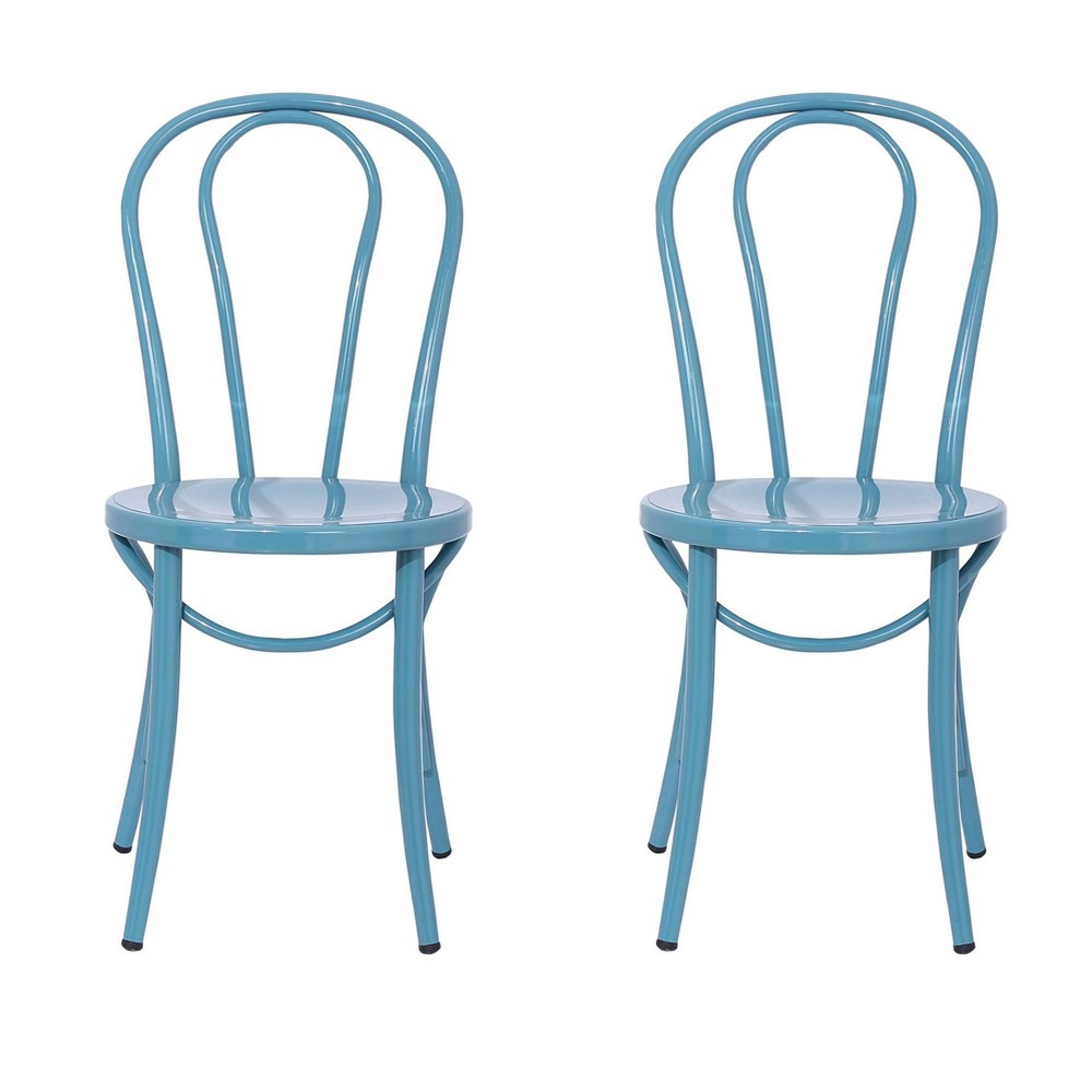 Image of Ellie Bistro Dining Chair (Set of 2) - Reservation Seating by Ace Bayou, Blue