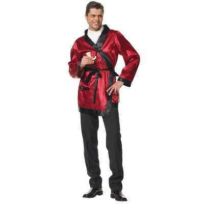 Adult Bachelor Smoking Jacket Red One Size