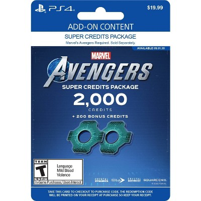 Marvel's Avengers: Heroic Credits Package 2,000   - PlayStation 4 (Digital)