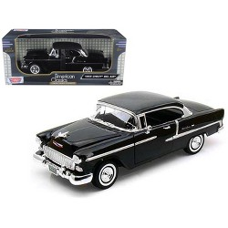 1955 Chevrolet Bel Air Hard Top Black 1/18 Diecast Model Car by Motormax