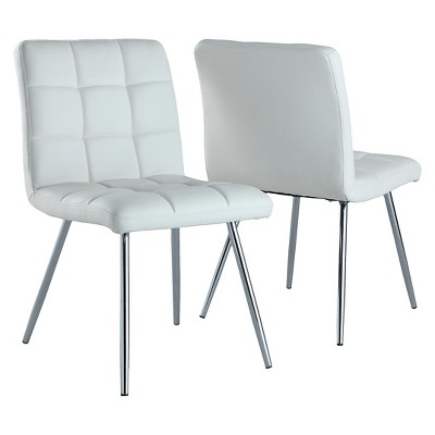 Set of 2 Metal Dining Chairs - EveryRoom