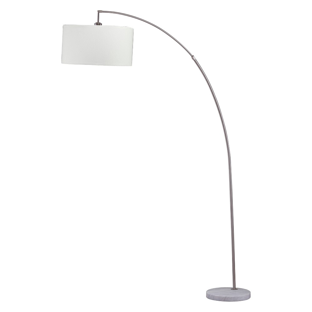 Image of Allegro Arc Floor Lamp with Marble Base Silver 86 - Ore International
