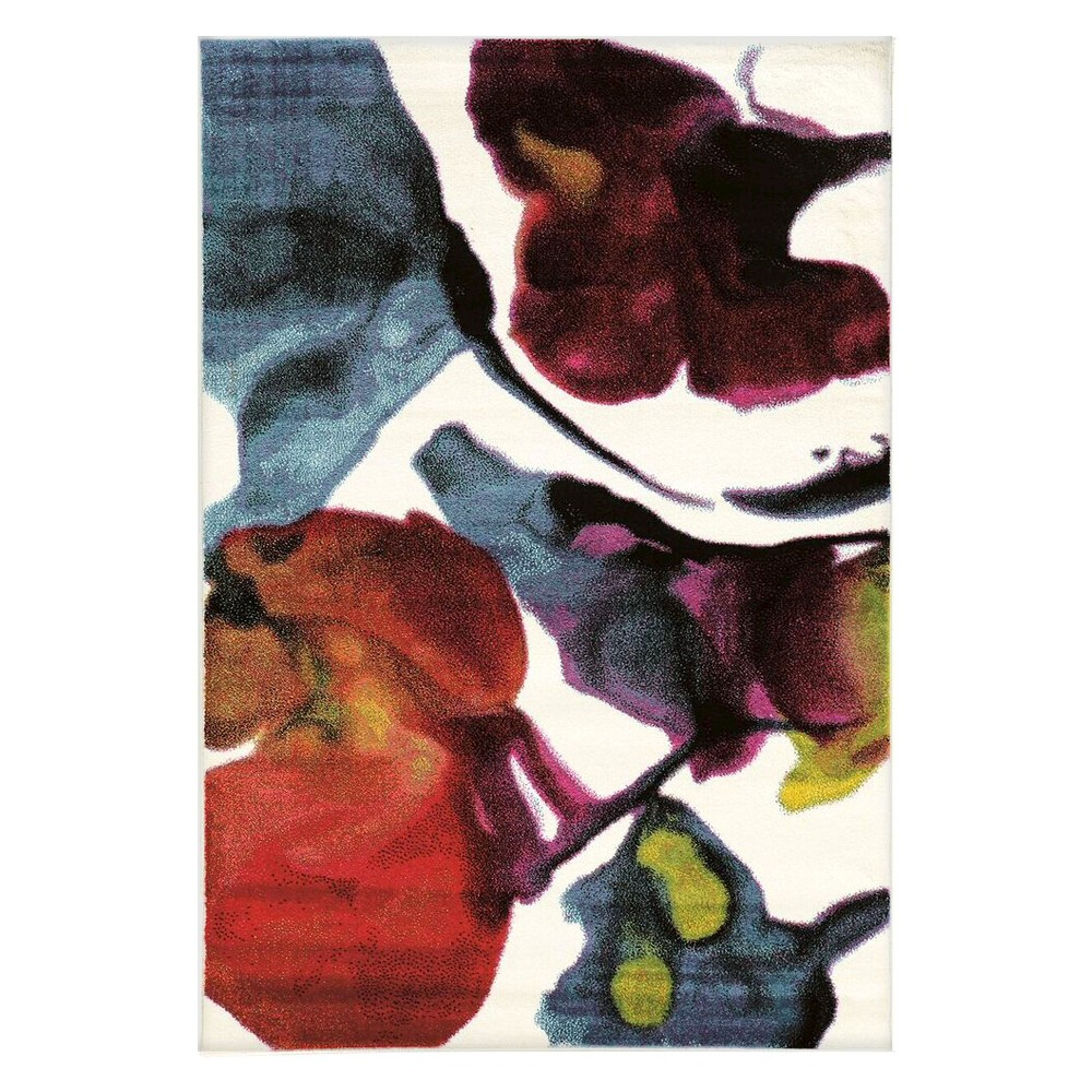 Masters MR05 Water Color Area Rug - White (5' X 7'6)