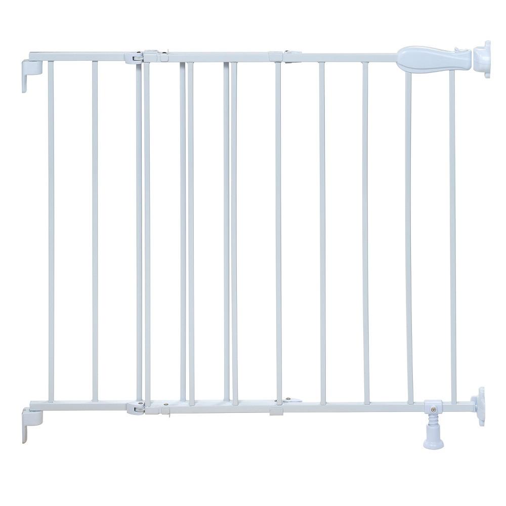 Summer Infant Walk Thru Stairway Simple-to-Secure Baby Gate (White Metal)