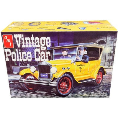 Skill 2 Model Kit 1927 Ford T Vintage Police Car 1/25 Scale Model by AMT