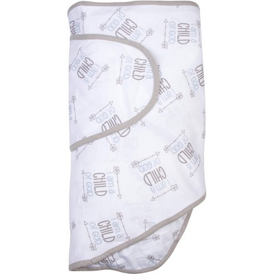 Miracle Blanket Swaddle Wrap Child of God Gray