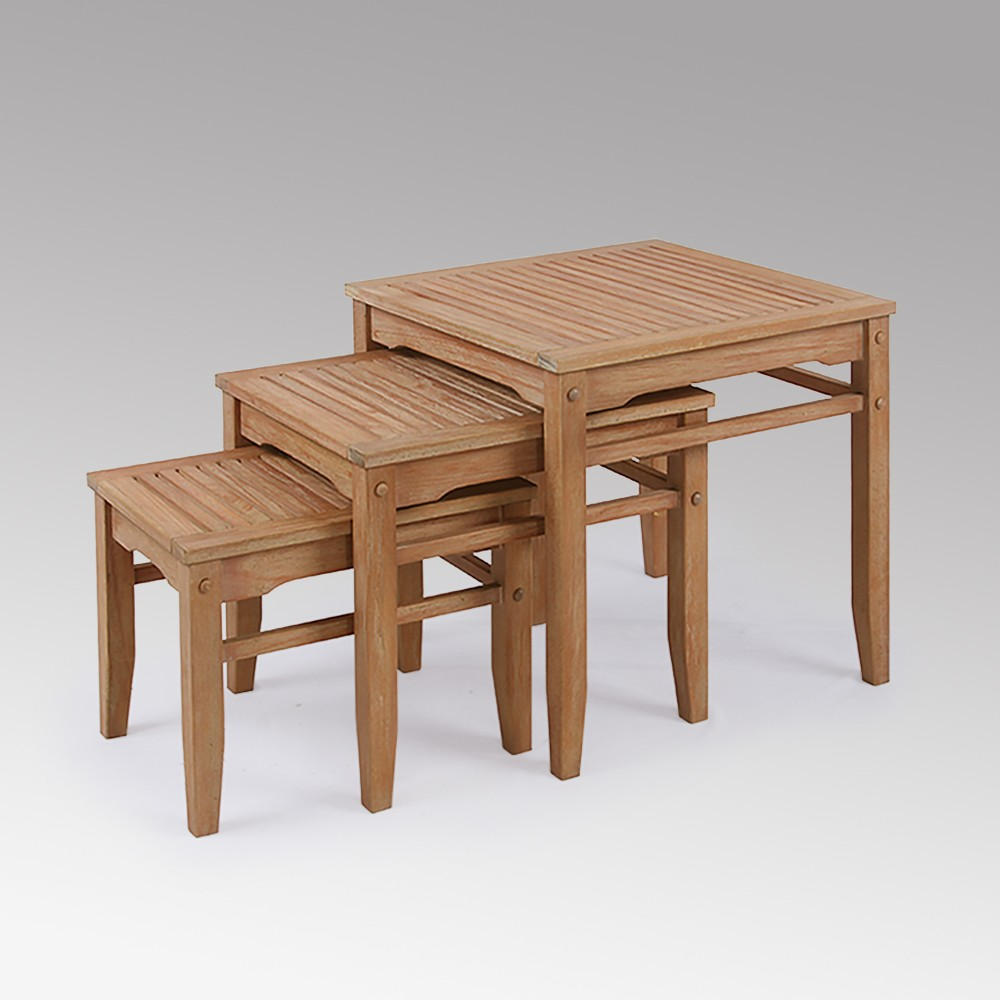 Sherwood Teak Nesting Table - Light Brown - Cambridge Casual