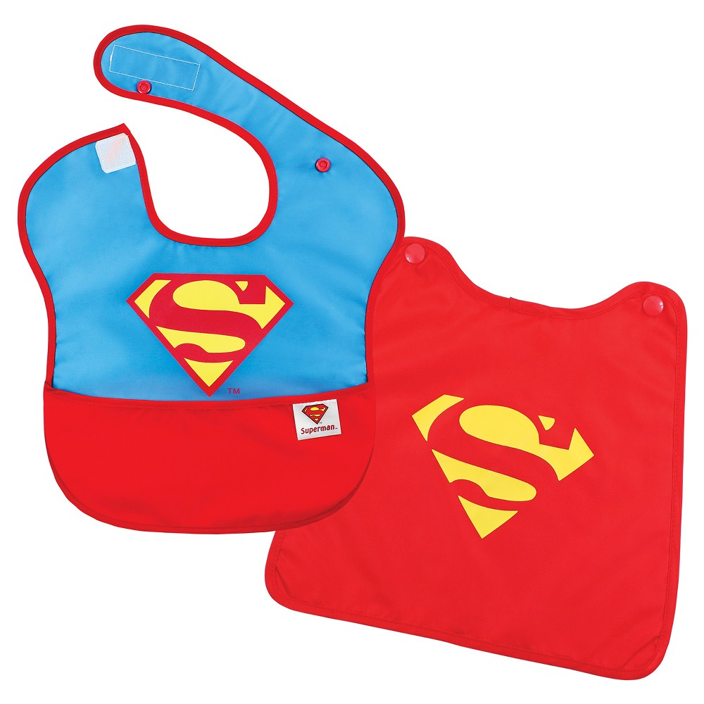 Image of Bumkins Baby Boys' Superman Waterproof Superbib With Cape