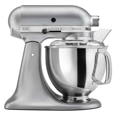 KitchenAid Refurbished Artisan Series Stand Mixer - Silver Metallic RRK150SM