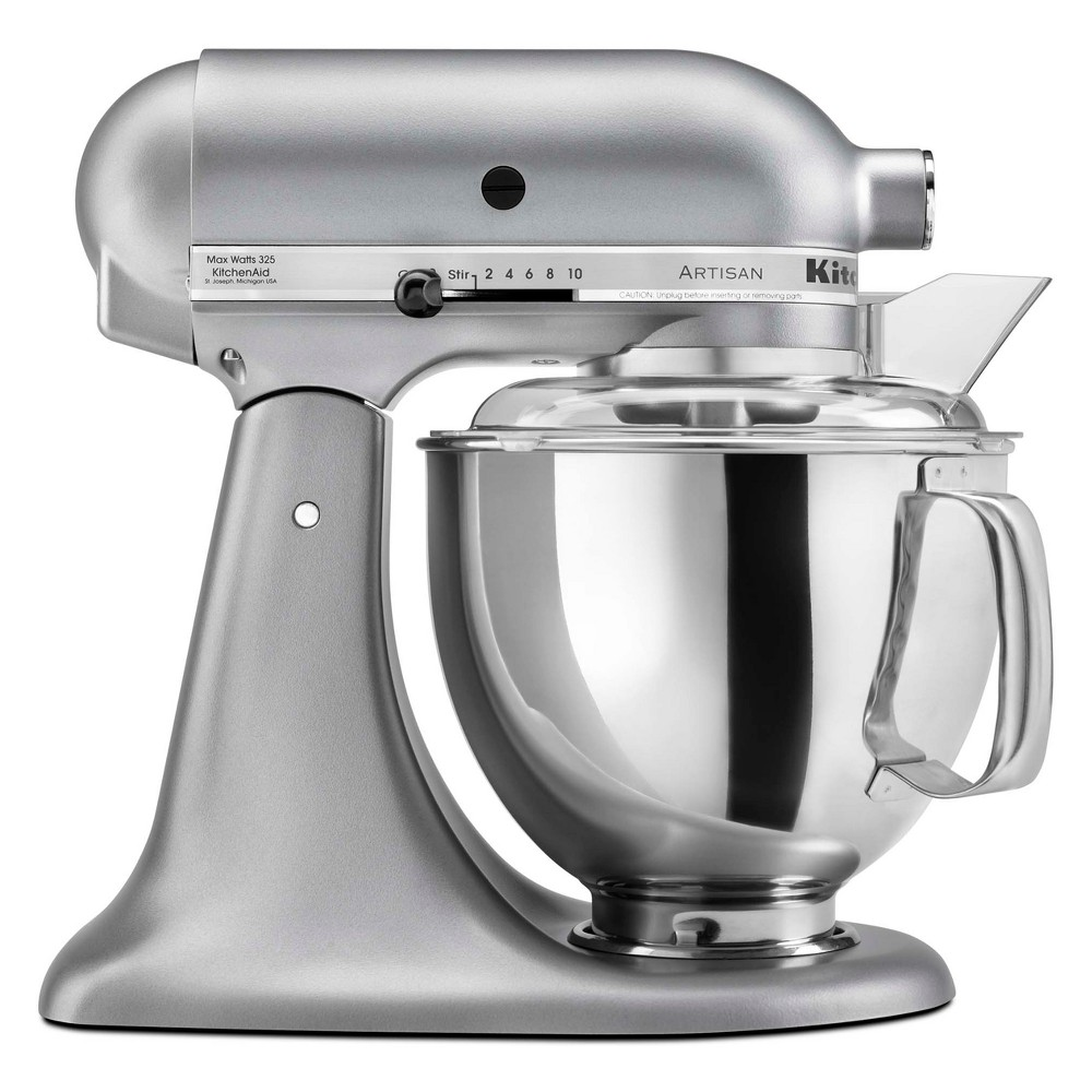 KitchenAid Refurbished Artisan Series Stand Mixer – Silver Metallic RRK150SM, Dark Silver 53499021