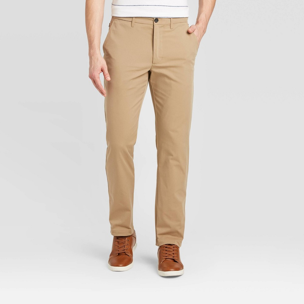 Men 39 S Slim Fit Tech Chino Pants Goodfellow 38 Co 8482 Beige 42x32