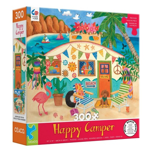 Ceaco Happy Camper: Beach Camper Oversized Jigsaw Puzzle - 300pc - image 1 of 3