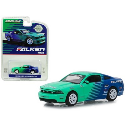 """2013 Ford Mustang GT """"Falken Tires"""" Hobby Exclusive 1/64 Diecast Model Car by Greenlight"""