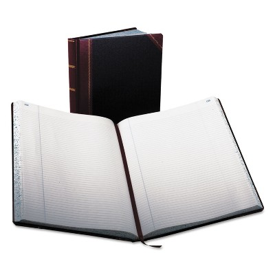 Boorum & Pease Record Ruled Book Black Cover 300 Pages 10 7/8 x 14 1/8 23300R