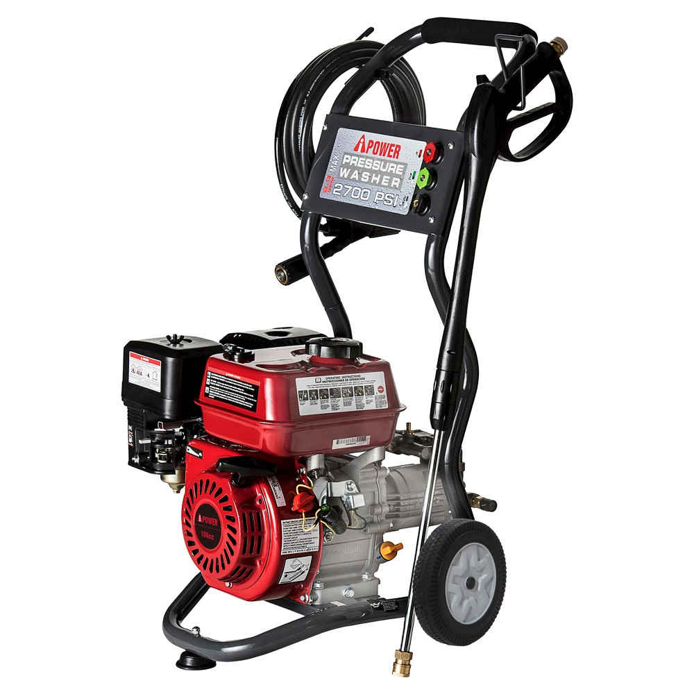 Image of 2700 PSI 2.3 GPM OHV Engine Axial Cam Pump Gas Pressure Washer - A-iPower, Black Red