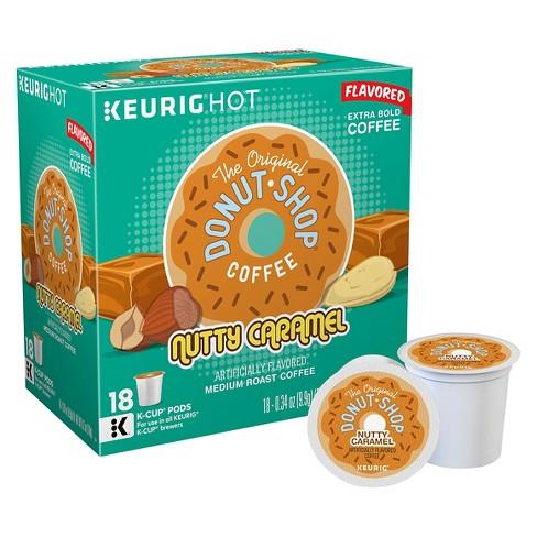 The Original Donut Shop Nutty Caramel Medium Roast Flavored Coffee - Keurig K-Cup Pods - 18ct - image 1 of 4