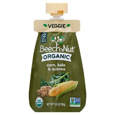 Beech-Nut Organic Puree Pouch Corn, Kale & Quinoa - 3.5oz