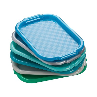 ECR4Kids Colorful Plastic Art Trays for Fun Kids Crafts at School and Home (72-Piece Set)