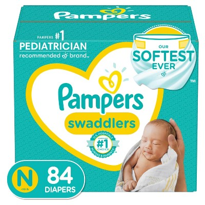 Pampers Swaddlers Disposable Diapers - Size Newborn - 84ct