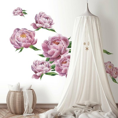 Large Peony Peel and Stick Giant Wall Decal - RoomMates