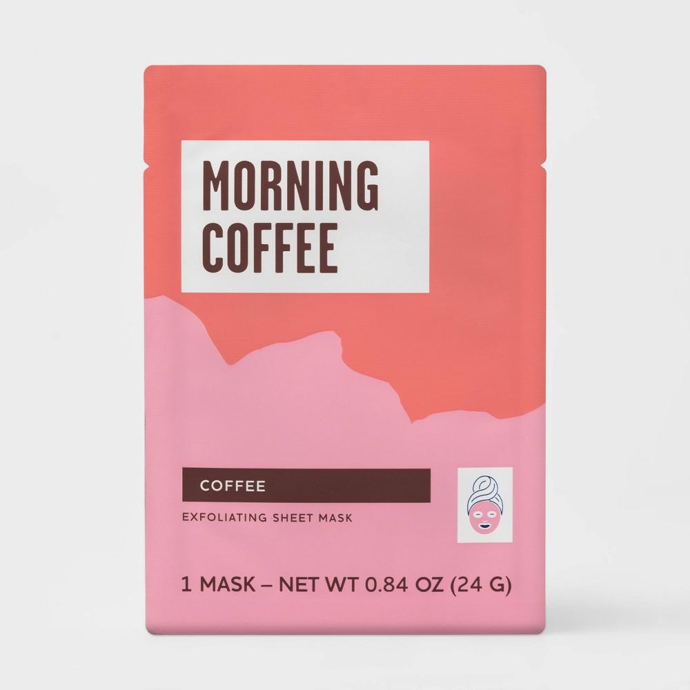 Image of Coffee Exfoliating Sheet Mask - White - 0.84oz - Target Beauty