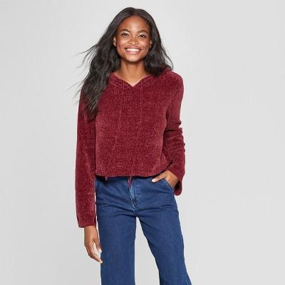 5bcba4b61082 Women s Long Sleeve Chenille Hoodie Sweater - Xhilaration™