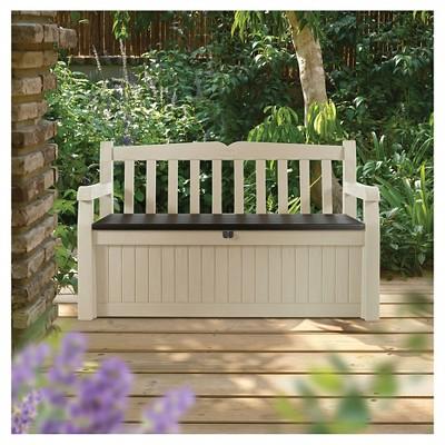 Eden Garden Bench 70G   Beige U0026 Brown   Keter