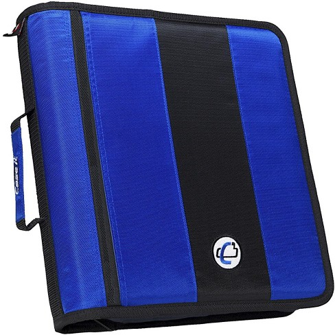 Case-it Classic O-Ring Zipper Binder, Blue, 2 Inches - image 1 of 2