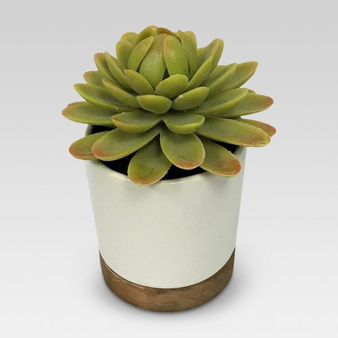 Artificial Plant in White Pot Small - Threshold™ - image 1 of 4