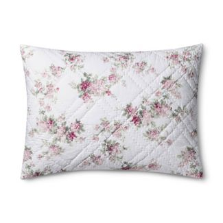 White Blooming Blossoms Pillow Sham (Standard) - Simply Shabby Chic®