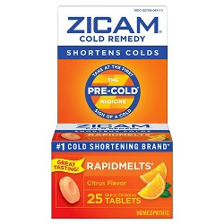 Zicam Quick Dissolve Tablets - Citrus - 25ct