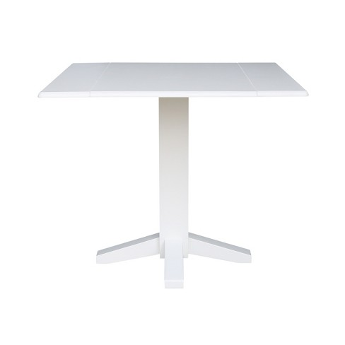 Square Dual Drop Leaf Dining Table White International Concepts