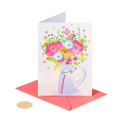 Mother's Day Greeting Card Floral Carafe - PAPYRUS