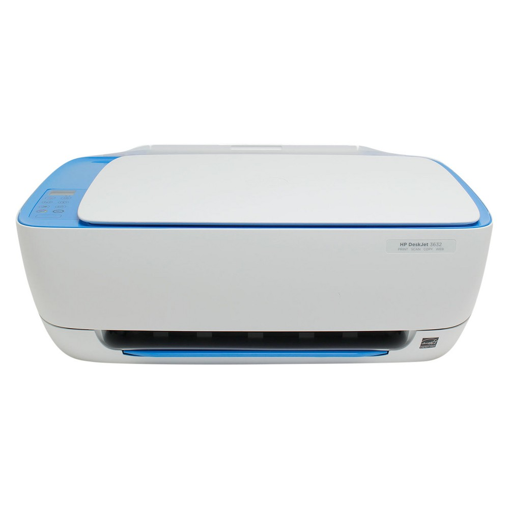 HP DeskJet 3632 All-in-One Multifunction Printer/Copier/Scanner - Blue (Pre-Owned/Certified - No Ink Included), Light Blue Print, scan and copy effortlessly with the Pre-owned/Certified DeskJet 3636 All-in-One Printer/Copier/Scanner from HP. This innovative all-in-one printer has a space-saving design and keeps your desk clutter-free. With a speed of 8.5 pages per minute it is compatible with smartphones and electronic tablets as well. This device is pre-owned/certified and comes with 90 day limited warranty. Color: Light Blue.