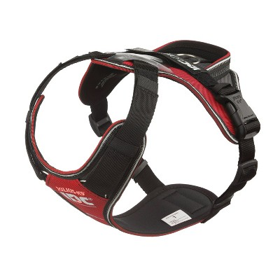Julius K-9 19LWH-GR-L IDC Longwalk Reflective No Pull Dog Walking Vest Harness for Large Sized Dogs from 26 to 33.8 Pounds, Size L, Red and Gray