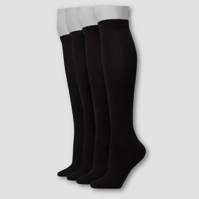 Hanes Premium 4 Pack Women's Comfort Soft Lightweight Knee High Socks