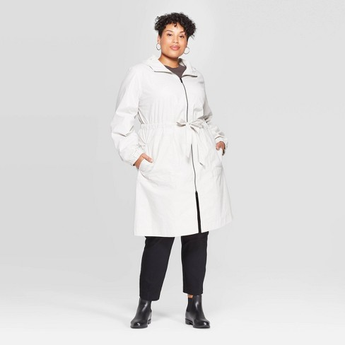 Women's Plus Size Rain Anorak Jacket - A New Day™ - image 1 of 2
