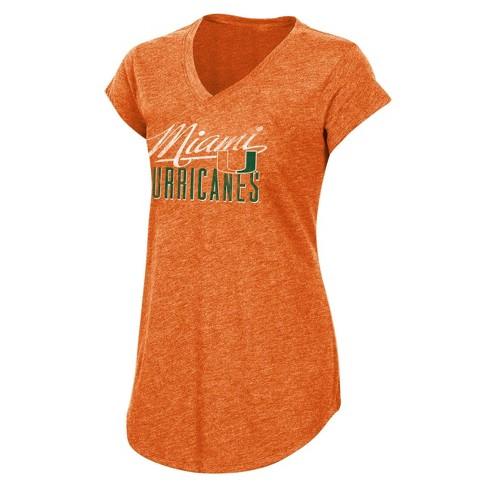 NCAA Miami Hurricanes Women's Short Sleeve V-Neck - image 1 of 2