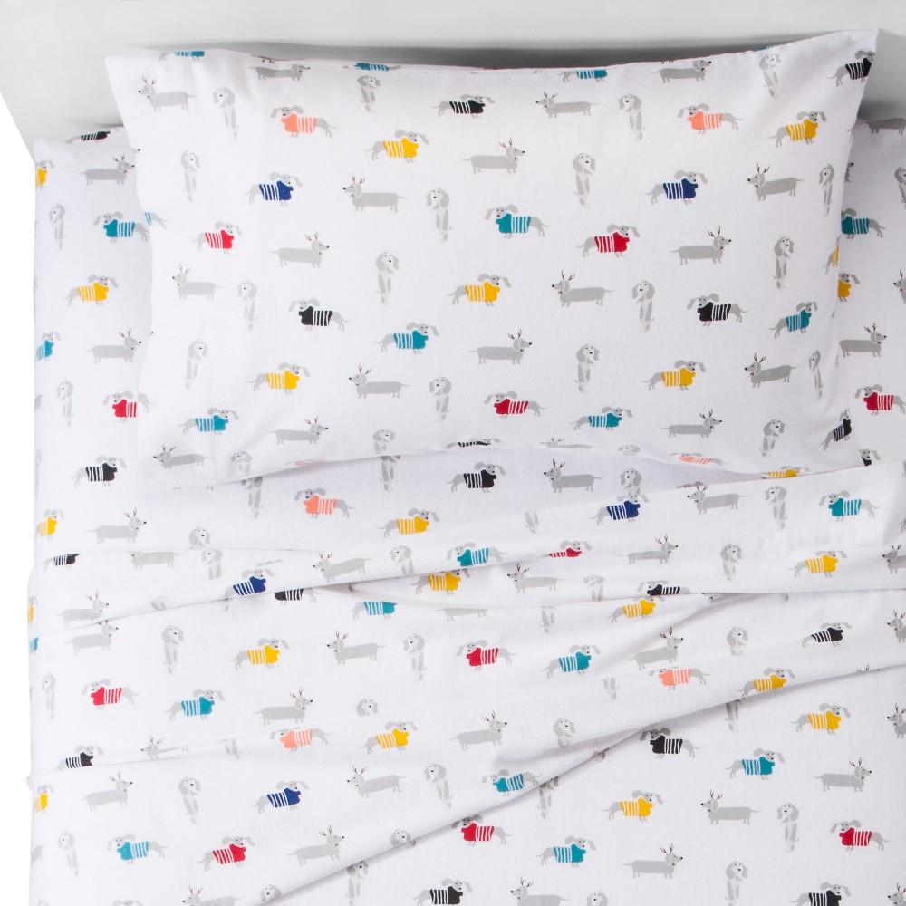 Dachshund Flannel Sheet Set (Twin) - Pillowfort, Multicolored