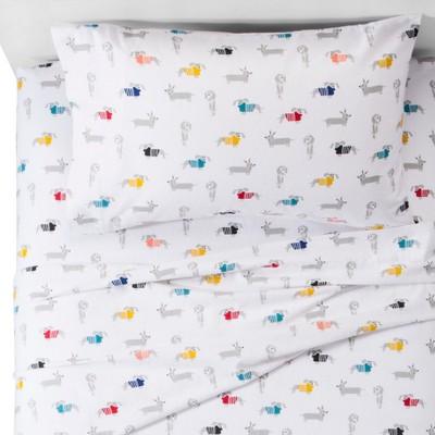 Dachshund Flannel Sheet Set   Pillowfort™