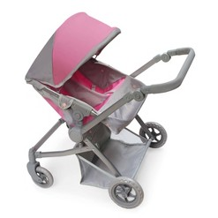 Voyage Twin Carriage Doll Stroller - Gray/Pink
