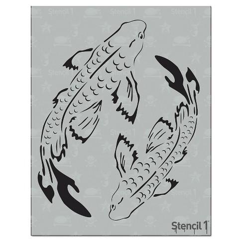 """Stencil1 Koi - Stencil 8.5"""" x 11"""" - image 1 of 3"""