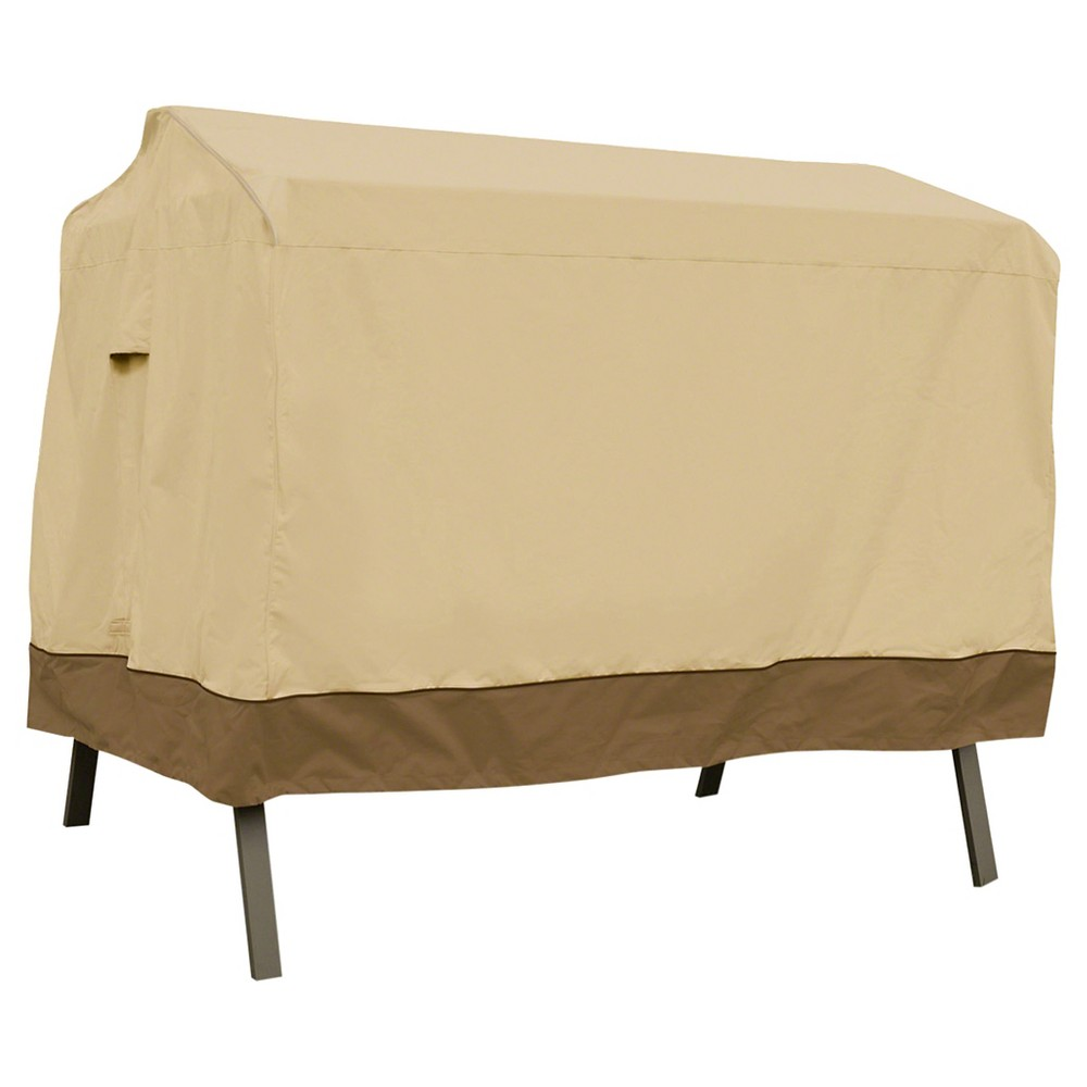 Image of Veranda Patio 3-Seat Canopy Swing Cover - Light Pebble - Classic Accessories