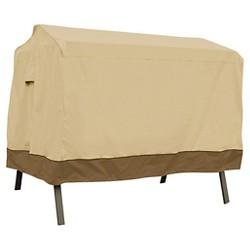 Veranda Patio 3-Seat Canopy Swing Cover - Light Pebble - Classic Accessories