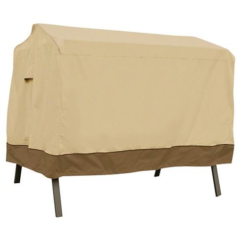 Veranda Patio 3-Seat Canopy Swing Cover - Light Pebble - Classic Accessories - image 1 of 4
